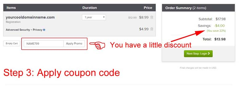 Name.com Coupon Codes