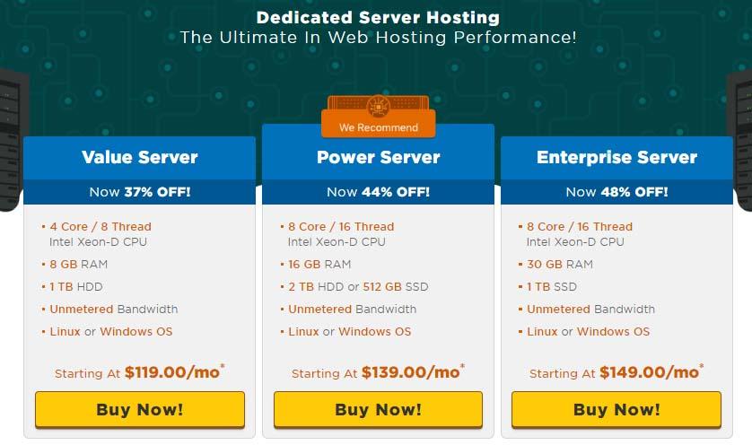 HostGator Dedicated Server Plans